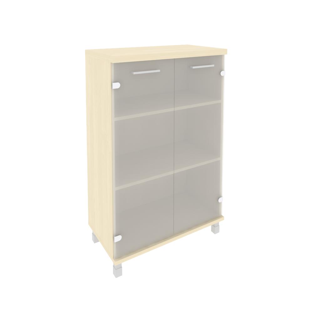 Шкаф средний широкий (2 средние двери стекло) KST-2.4 клен