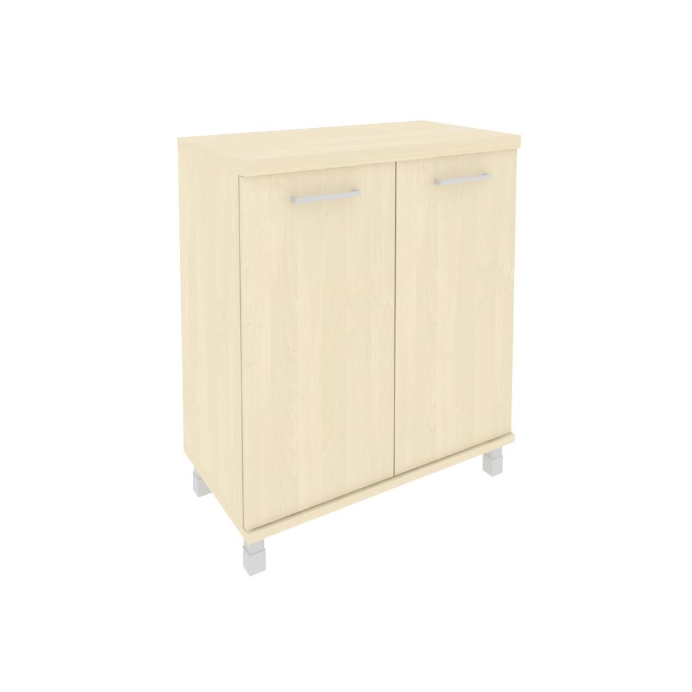 Шкаф низкий широкий (2 низкие двери ЛДСП) KST-3.1 клен