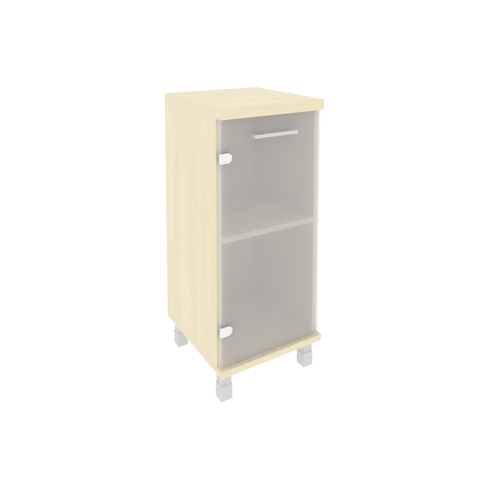 Шкаф низкий узкий левый (1 низкая дверь стекло) KSU-3.2клен