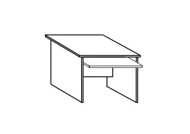 Стол письменный СФ227 СФ217