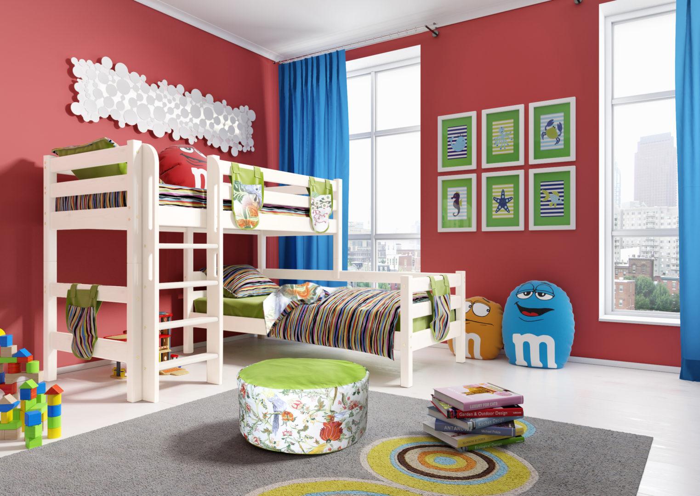 """Вариант 7 Угловая кровать """"Соня"""" с прямой лестницей"""
