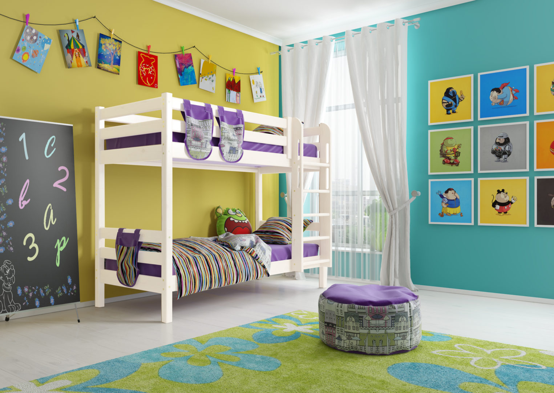 Двухъярусная кровать Соня с прямой лестницей Вариант 9