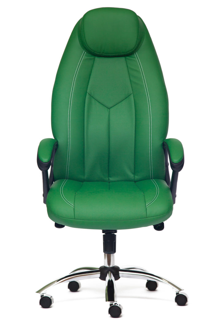 Кресло руководителя Босс люкс (Boss lux) (Искусственная зелёная кожа)