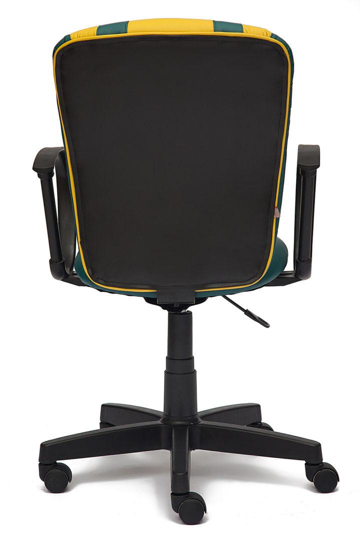 Кресло офисное TetChair Спектрум (SPECTRUM) (Бирюзовый-желт. искусств. кожа)