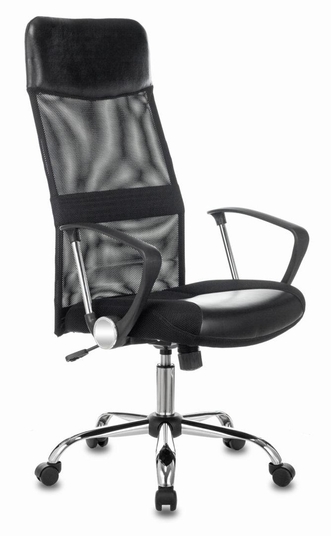 Кресло руководителя Бюрократ CH-600SL черный искусст.кожа/сетка/ткань крестовина металл хром
