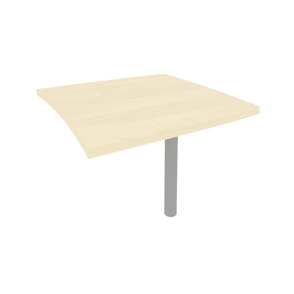 Брифинг-приставка для криволинейного стола (опора КО-1 в комплекте) КВ-3 клен