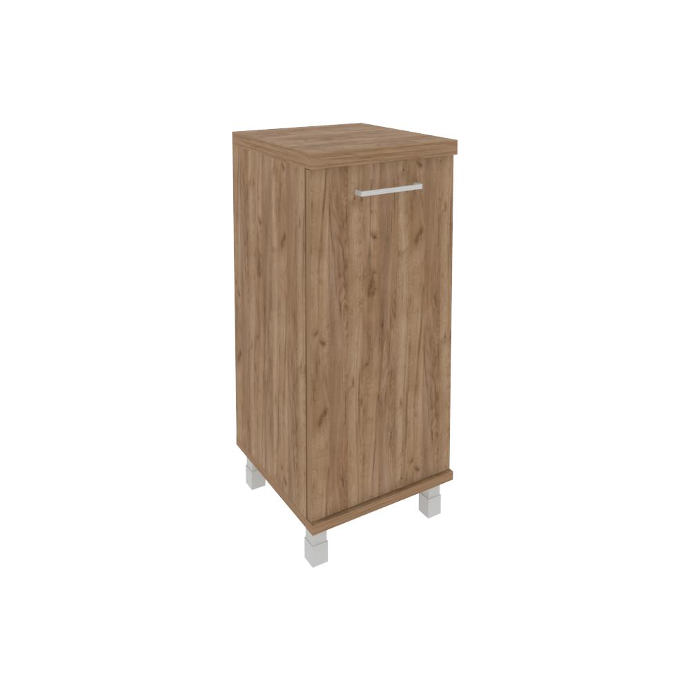 Шкаф низкий узкий левый (1 низкая дверь ЛДСП) KSU-3.1 Дуб Табак