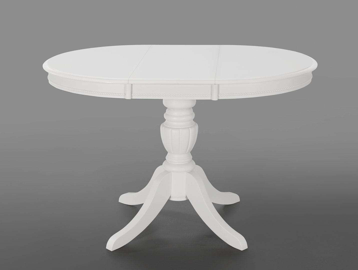 Стол белый обеденный раздвижной «Беатриче нью» (Beatrice new)
