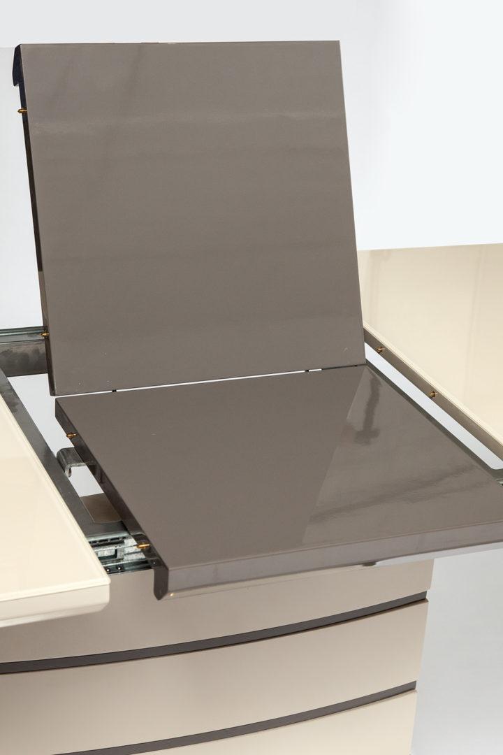 Стол обеденный раскладной «Wolf» (mod. 8053-2) Butter white ( слоновая кость)