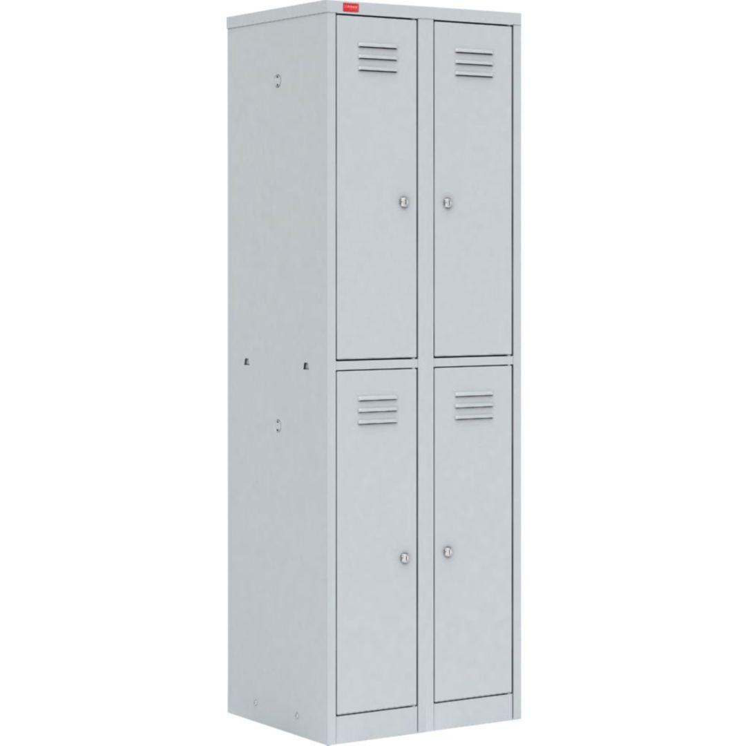Двухсекционный металлический шкаф для одежды ШРМ – 24