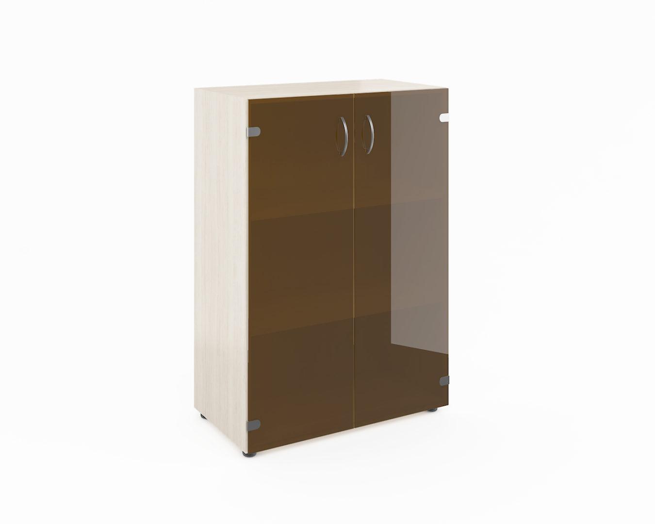 Шкаф широкий средний со стеклом (без топа) Артикул: ФР-5.0+51.0*2+8.3*2