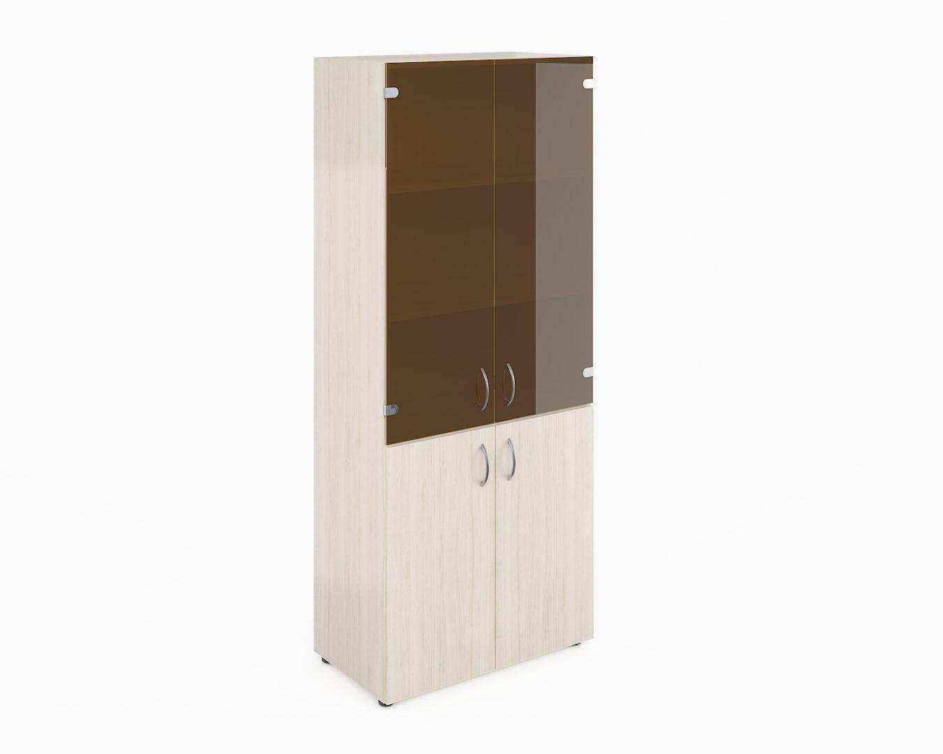Шкаф широкий высокий со стеклом (без топа) ФР-6.0+8.0+51.0*2+8.3*2