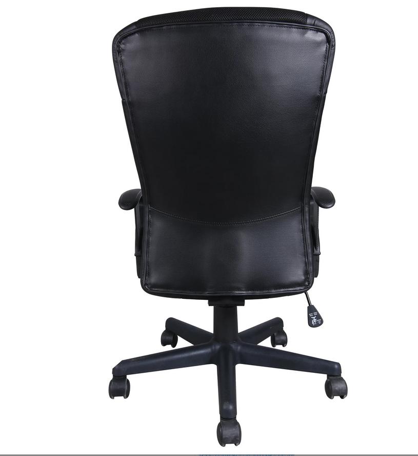 """Кресло BRABIX """"Optima MG-370"""", с подлокотниками, экокожа/ткань, черное, 531580"""