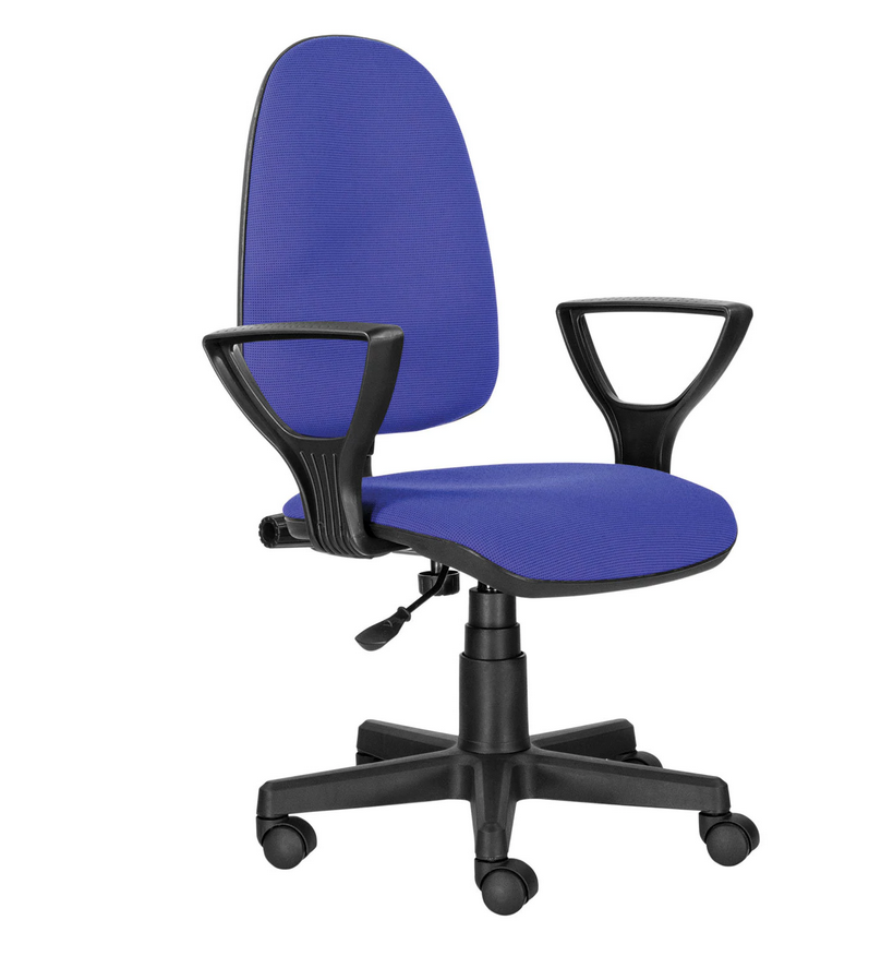 Кресло BRABIX Prestige Ergo MG-311, регулируемая эргономичная спинка, ткань, черно-синее