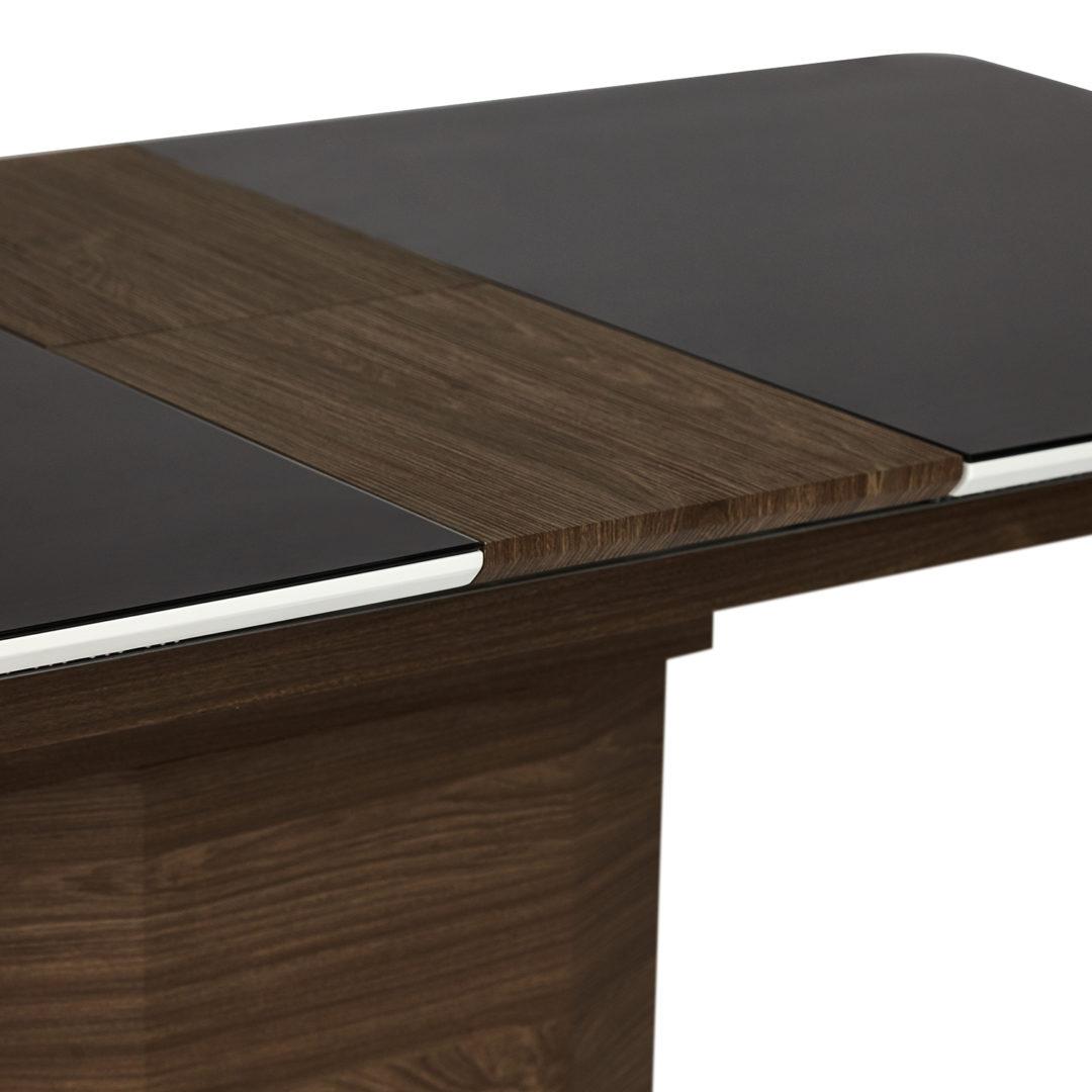 Стол RADCLIFFE ( Mod. EDT-VG002) коричневый, мдф high glossy