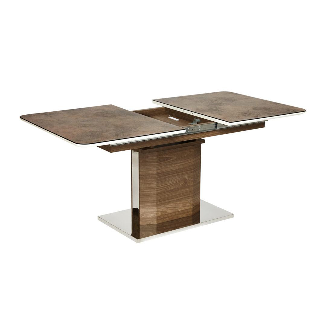 Стол RADCLIFFE ( Mod. EDT-VG002) коричневый, стекло «burning stone»