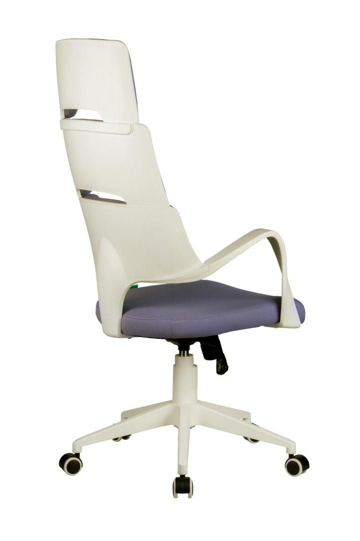 Кресло офисное SAKURA белый пластик\лиловая ткань