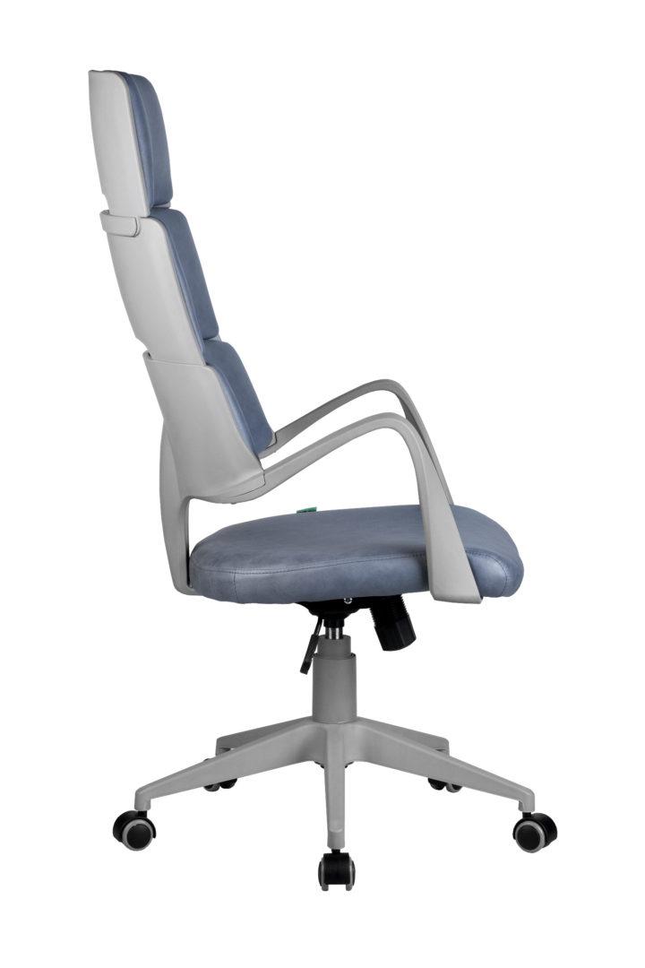 Кресло офисное SAKURA  серый  пластик фьюжн альпийское озеро ткань