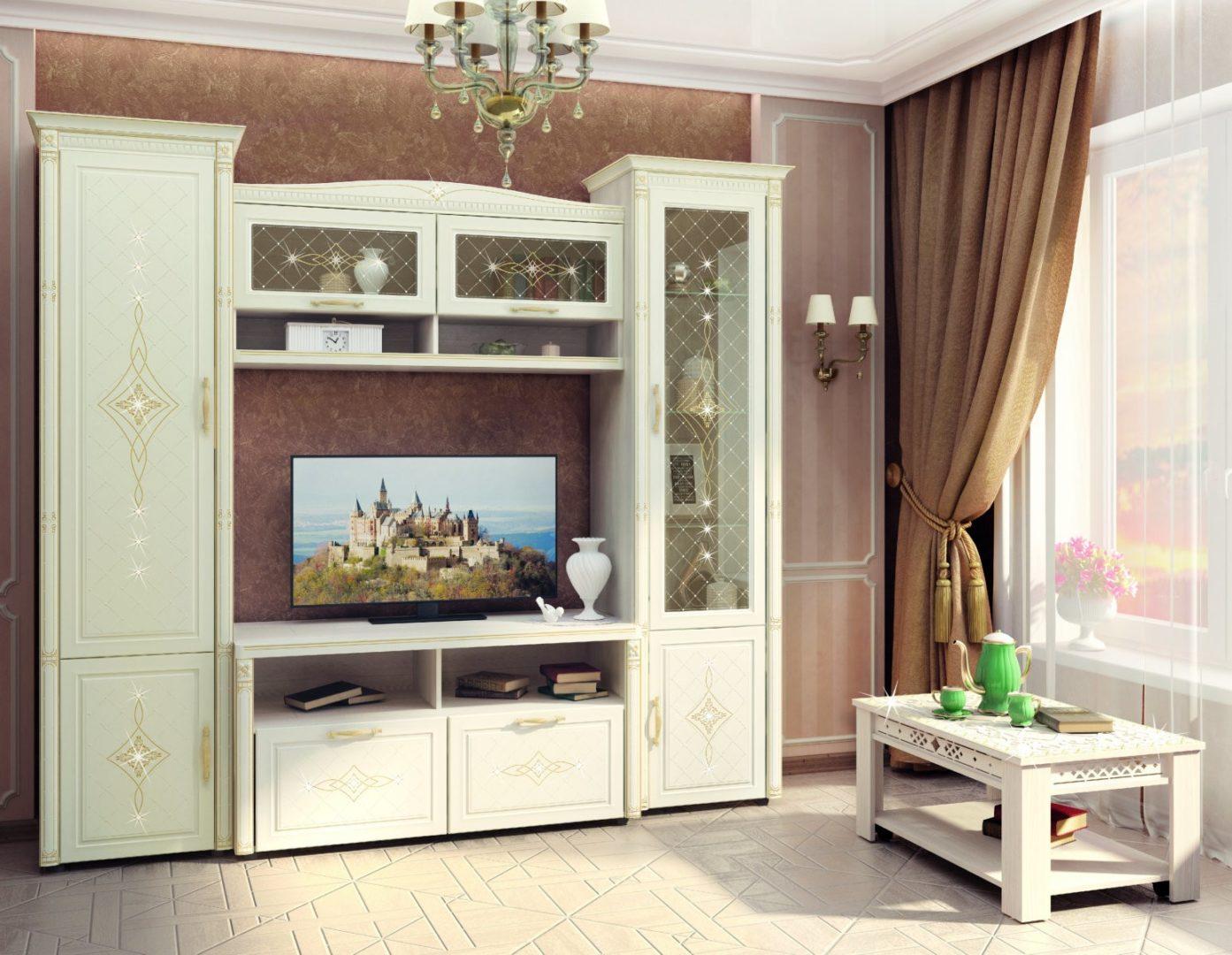 Набор мебели для гостиной Венеция 2 (ширина 242 см)
