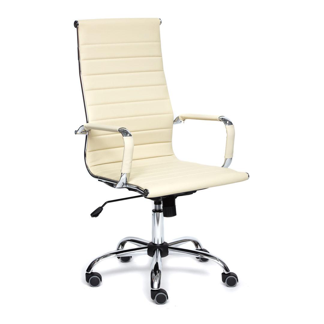 Кресло руководителя Urban (Искусственная бежевая кожа)