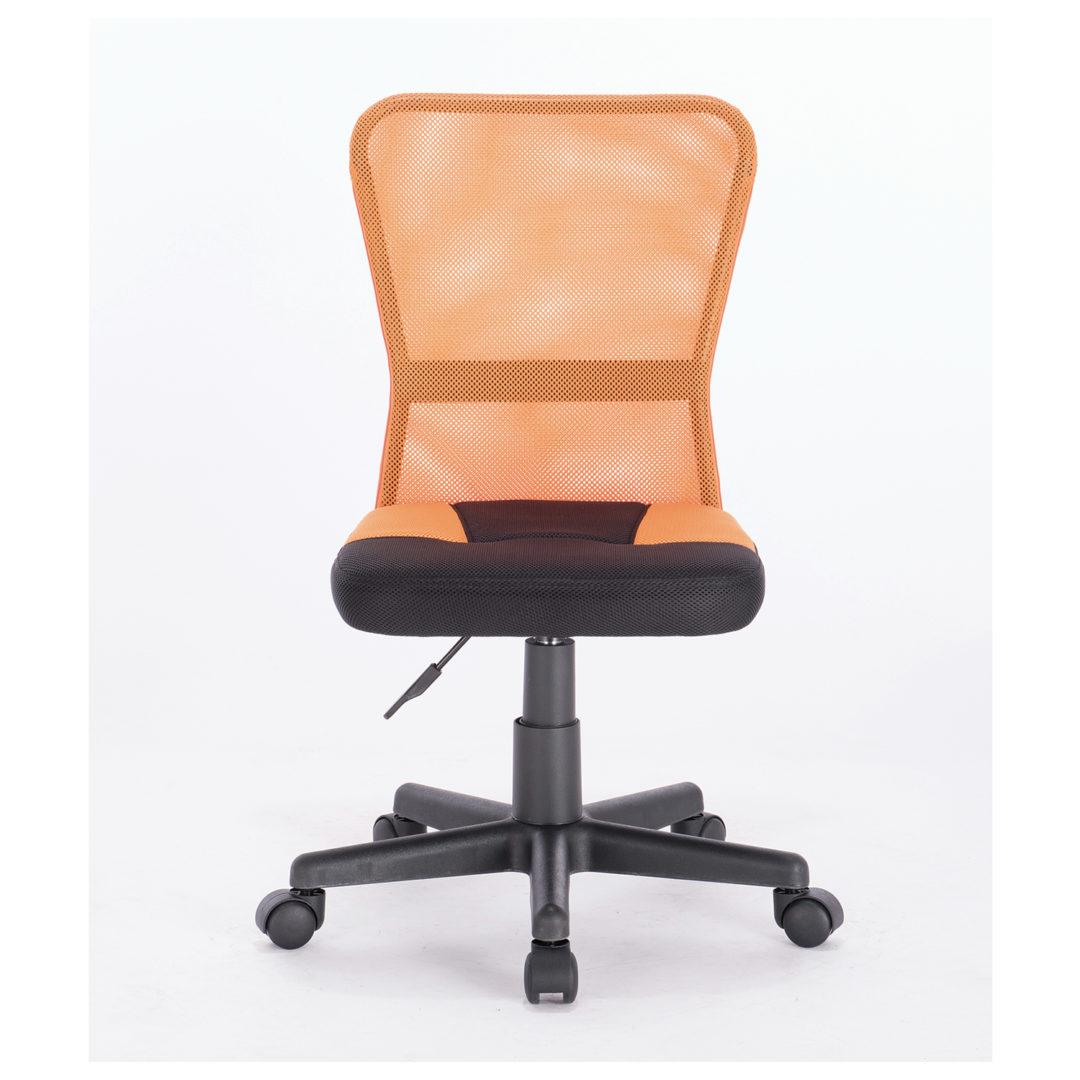 """Кресло компактное BRABIX """"Smart MG-313"""", без подлокотников, комбинированное, черное/оранжевое"""
