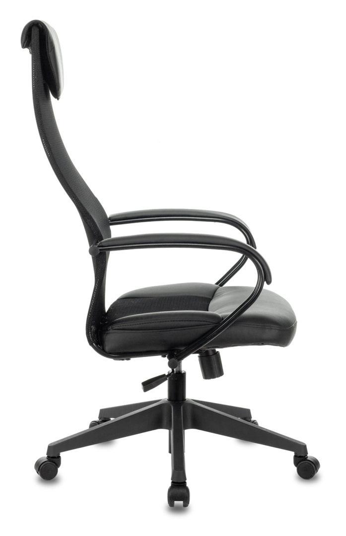 Кресло руководителя Бюрократ CH-608/BLACK спинка сетка черный TW-01 сиденье черный TW-11 искусственная кожа/ткань