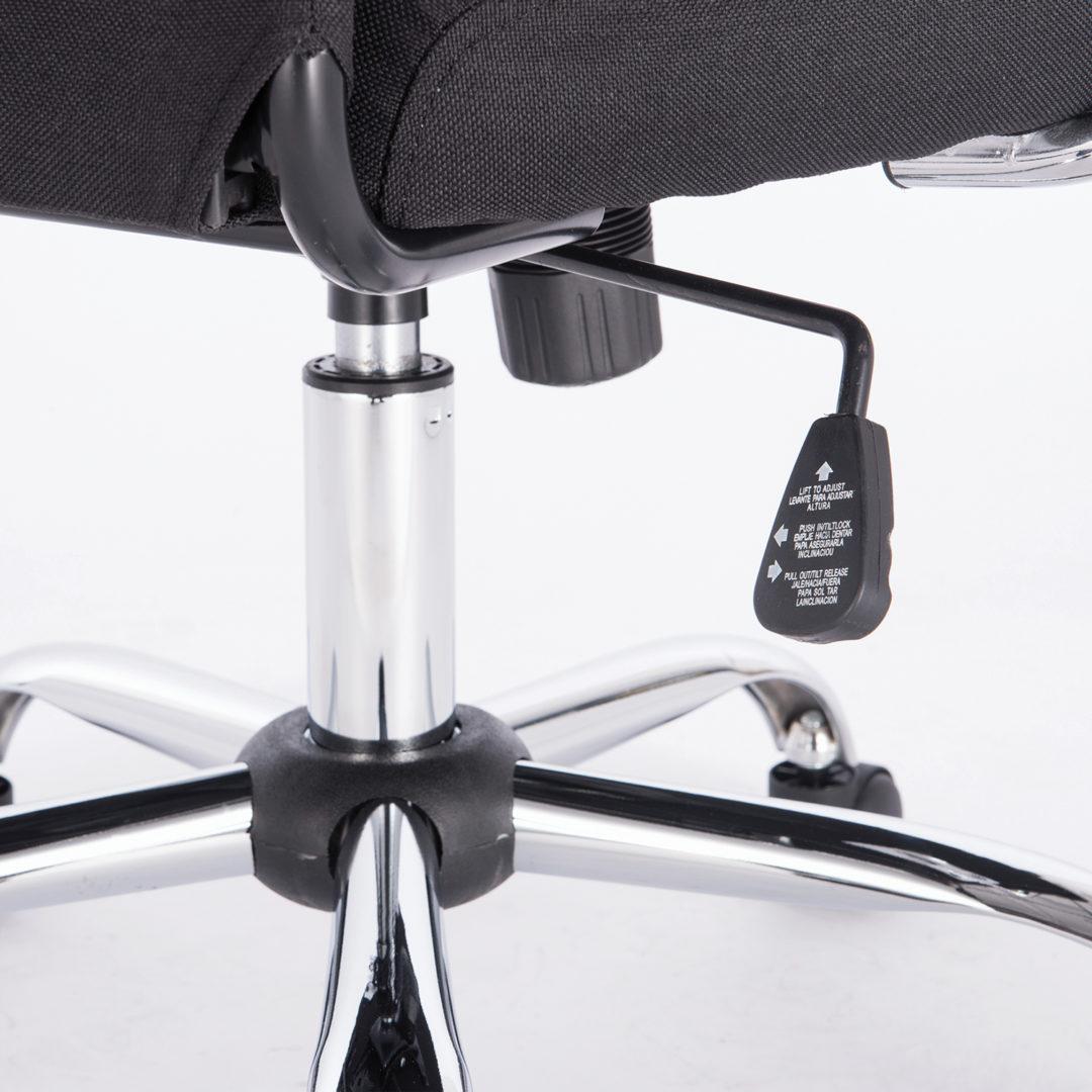 """Кресло офисное BRABIX """"Flight EX-540"""", хром, ткань, сетка, черное"""