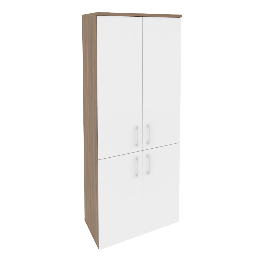 Шкаф высокий широкий (2 низких фасада ЛДСП + 2 средних фасада ЛДСП) O.ST-1.3