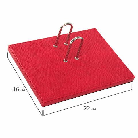 Набор настольный GALANT из экокожи, 8 предметов, под змеиную кожу, красный, 232283