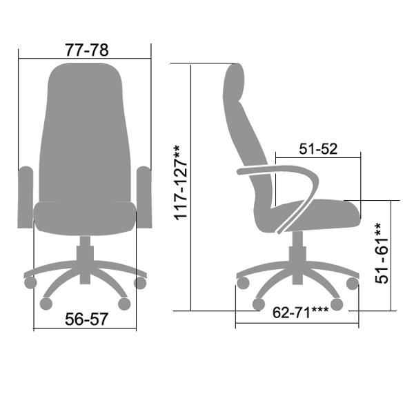 Кресло руководителя Metta LK-3 Кожа NewLeather бежевый