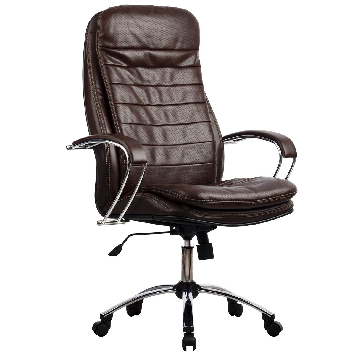 Кресло руководителя Metta LK-3 Кожа NewLeather кожа коричневый