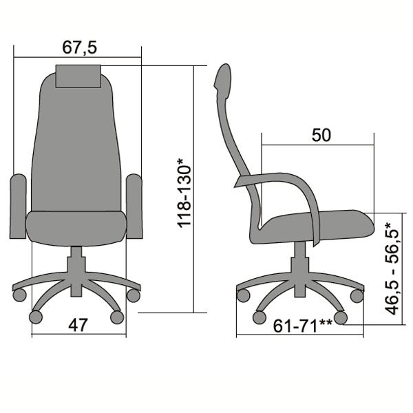 Кресло Metta BP-10 черное