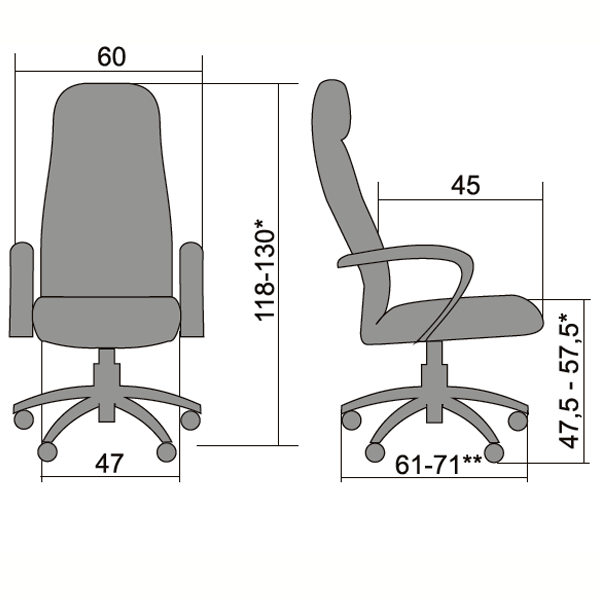 Кресло Metta BP-2 перфорированная кожа бордо