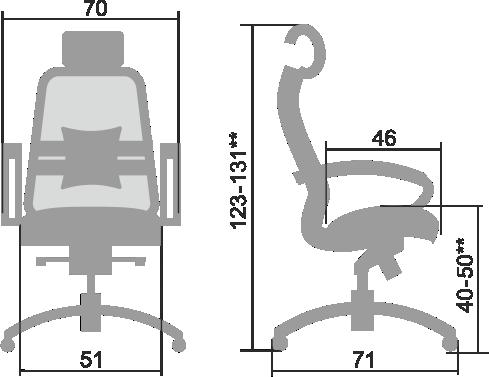 Кресло руководителя SAMURAI SL-2.04 Белый Лебедь