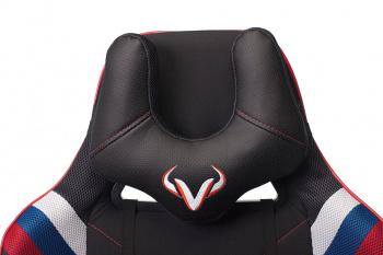 Кресло игровое Бюрократ VIKING 4 AERO белый/синий/красный