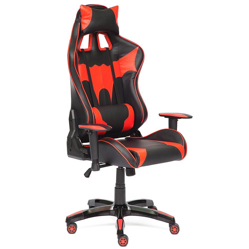 Кресло игровое iBat кож/зам, черный/красный