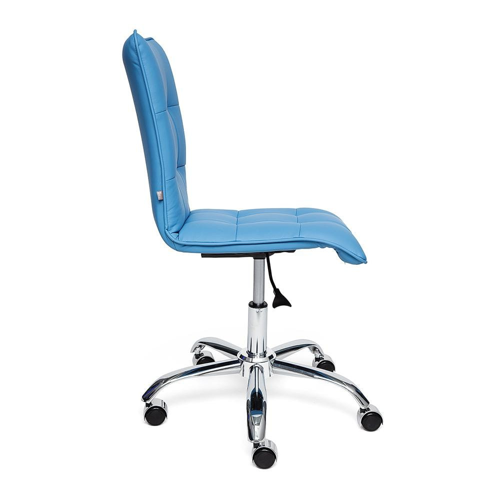 Кресло ZERO кож/зам, голубой, 04-20