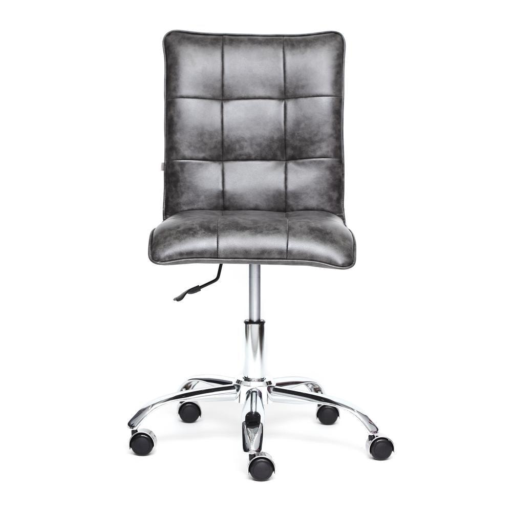 Кресло офисное ZERO кож/зам, серый, 2 TONE
