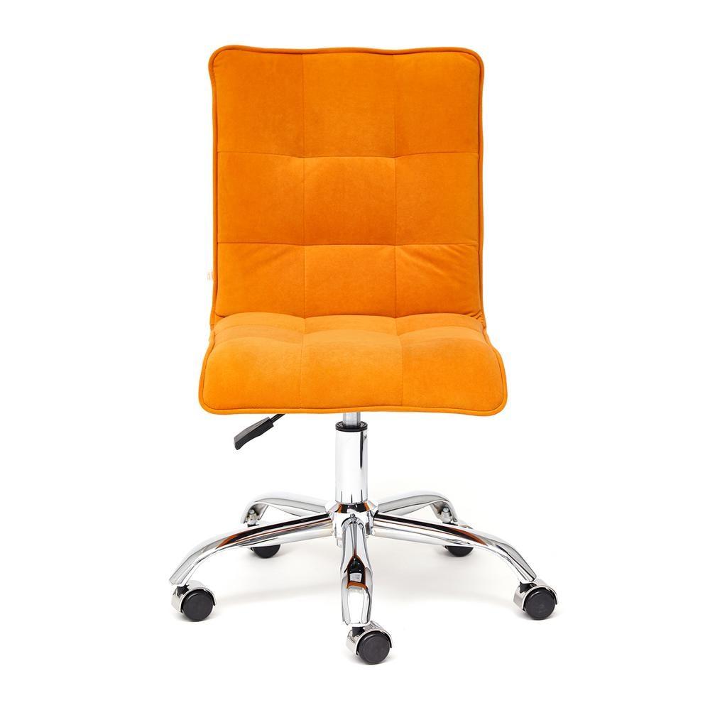 Кресло офисное ZERO флок, оранжевый, 18