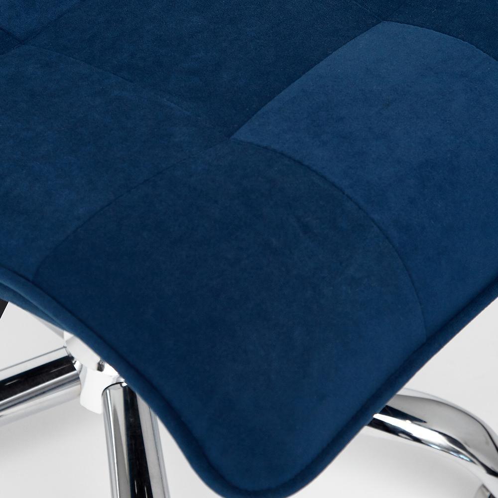 Кресло офисное ZERO флок, синий, 32
