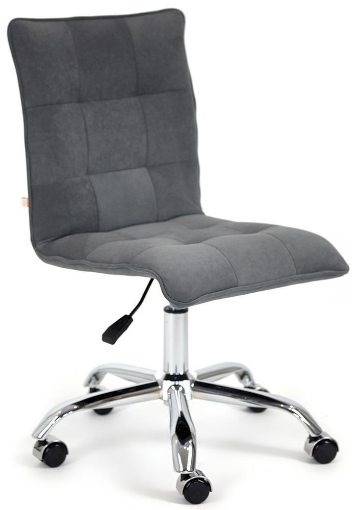 Кресло офисное ZERO флок, серый, 29