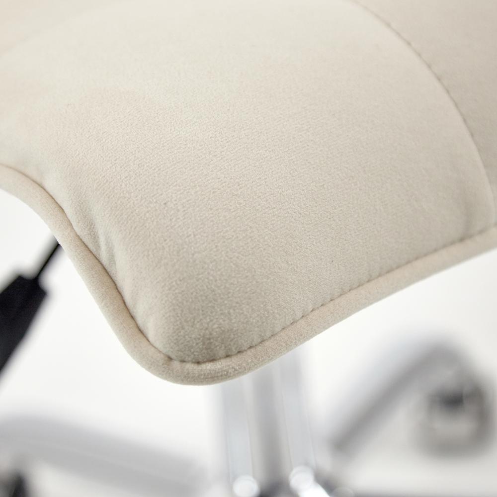 Кресло офисное ZERO флок, молочный, 4