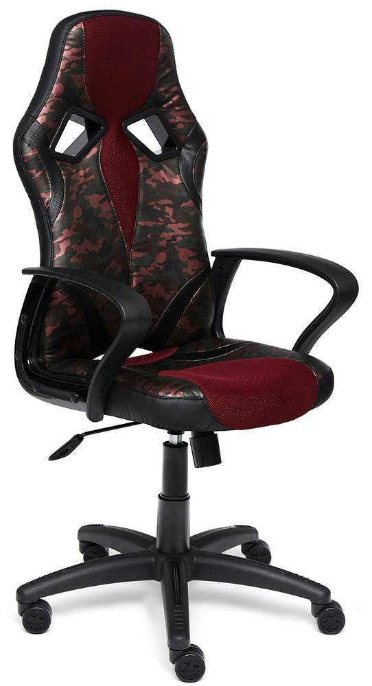 Кресло RUNNER MILITARY кож/зам/ткань, розовый