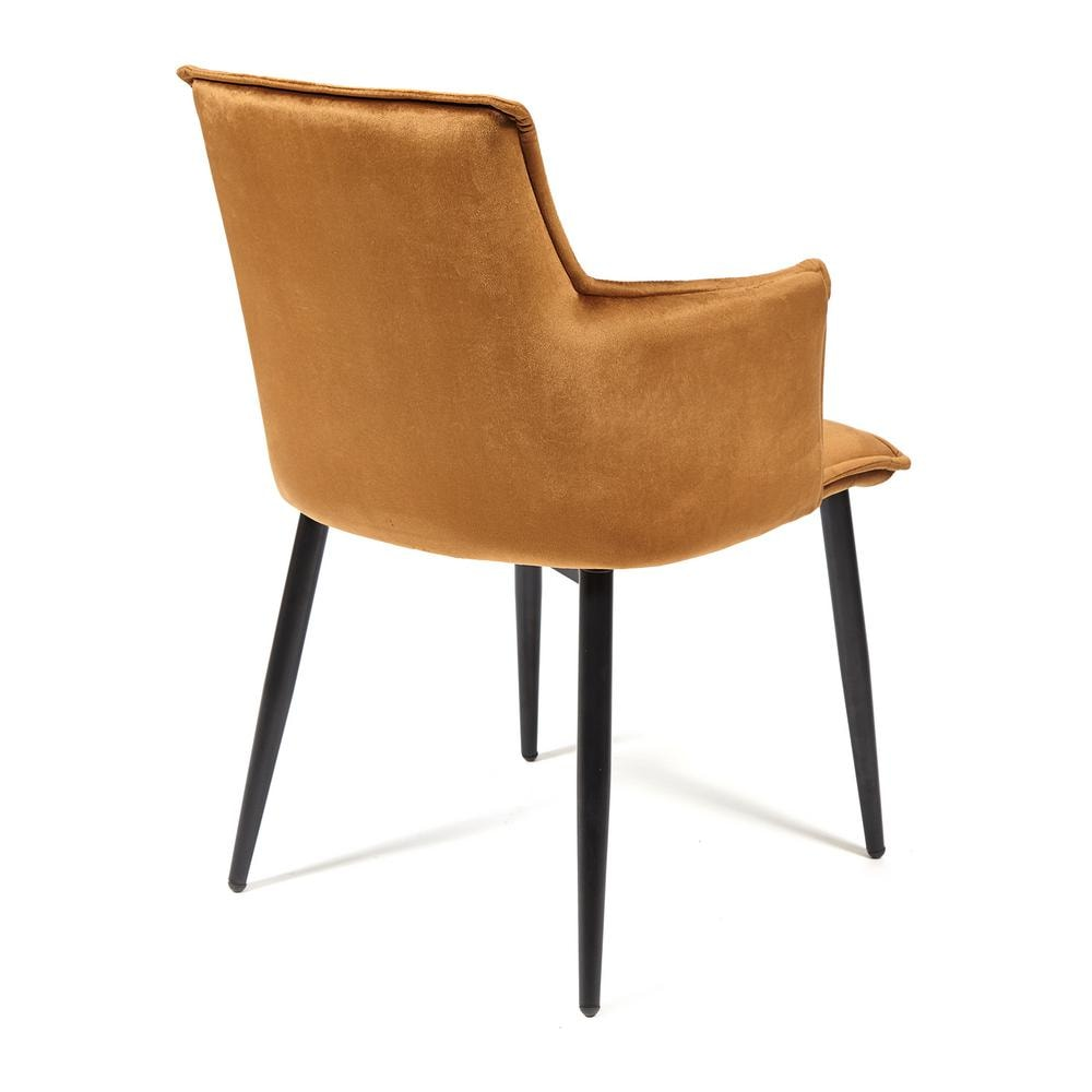 Кресло SASKIA (mod. 8283) металл/ткань, 55 х 61 х 85см, коричневый (G-062-61)/черный