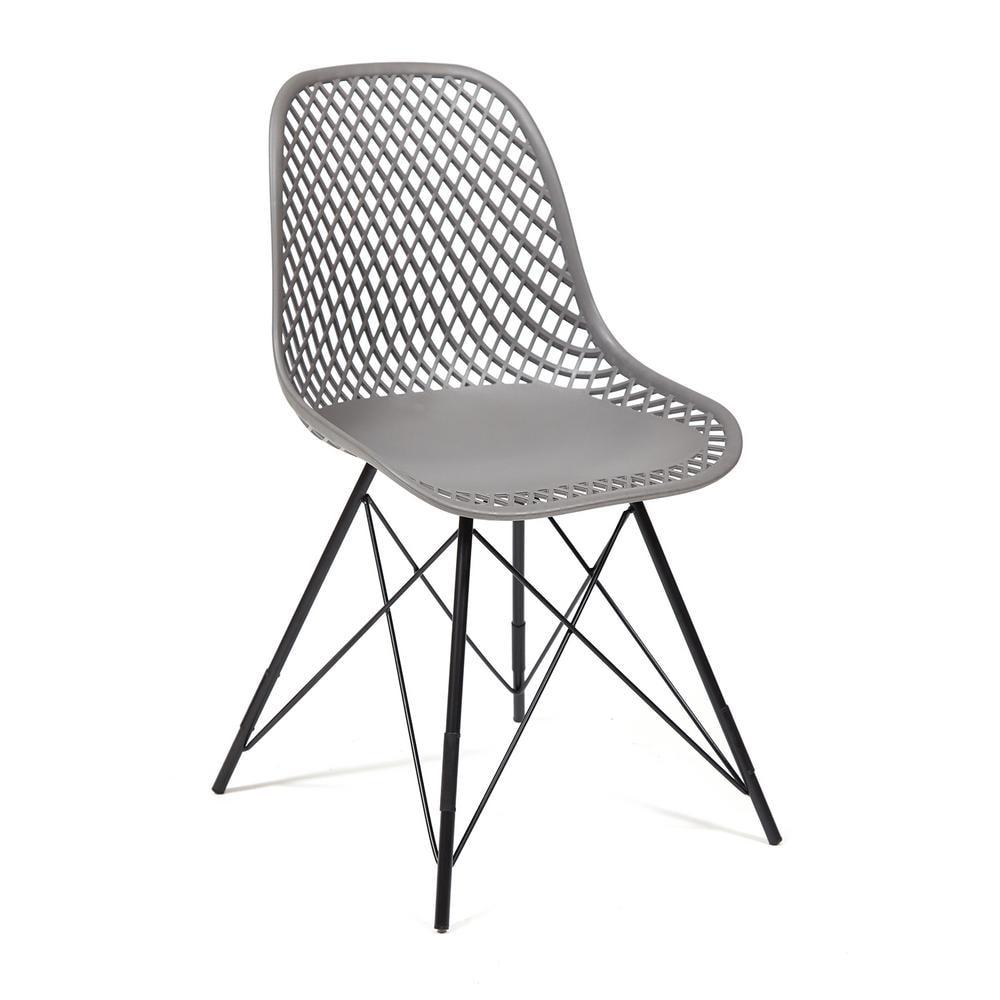 Стул обеденный VINCENT (mod. 8001) металл/пластик, 46,5 х 53 х 83,5 см, серый/черный