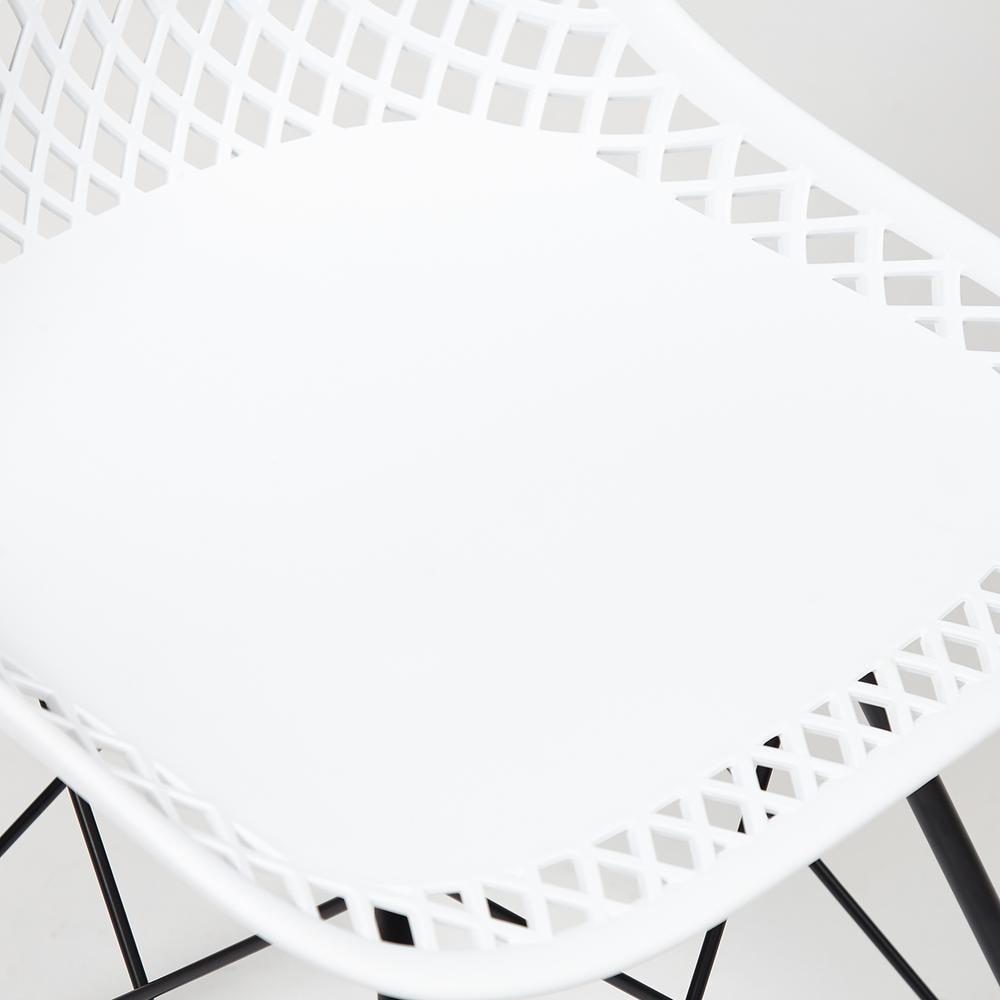 Стул VINCENT (mod. 8001) металл/пластик, 46,5 х 53 х 83,5 см, белый/черный