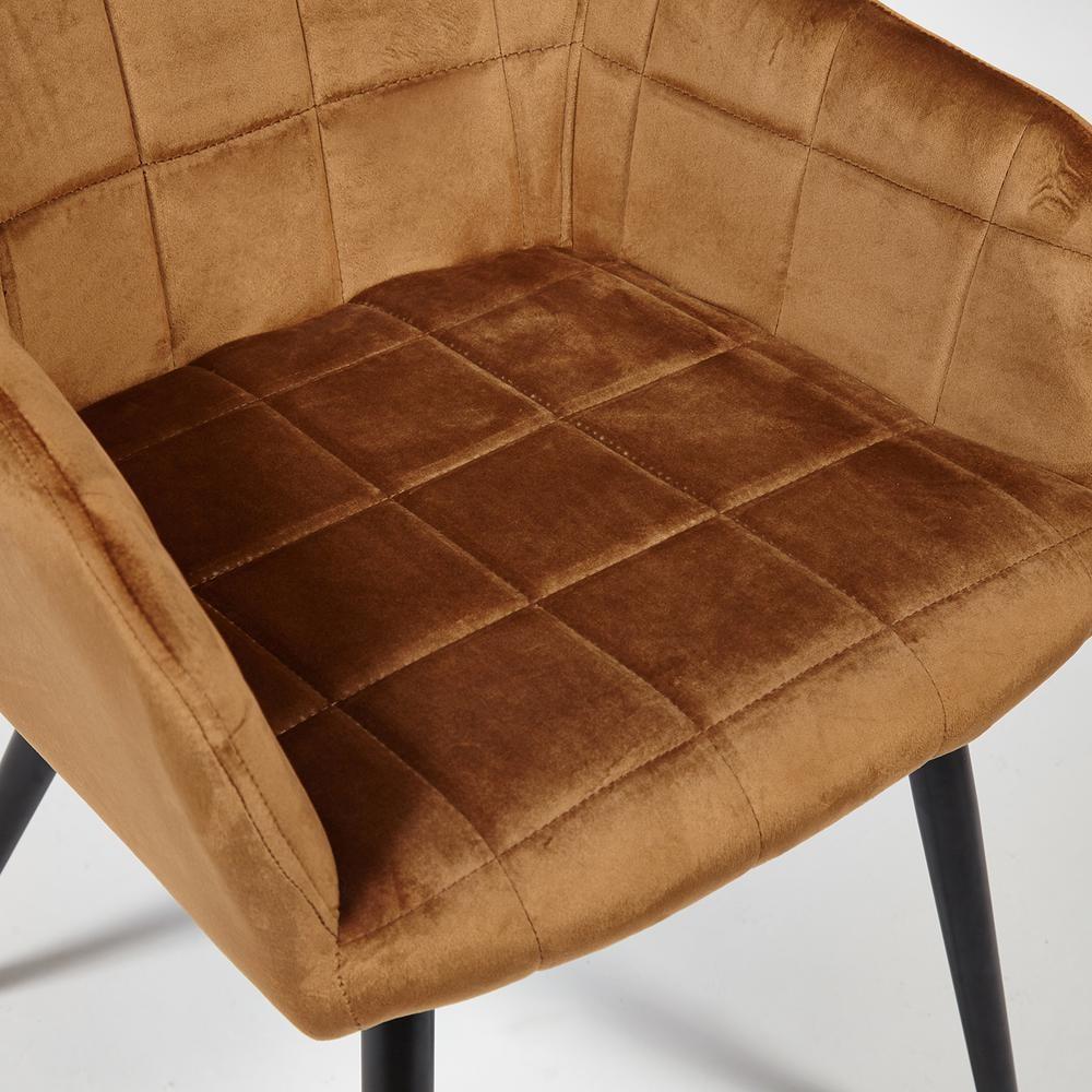 Кресло BEATA (mod. 8266) металл/ткань, 56х60х82 см, коричневый (G-062-61)/черный