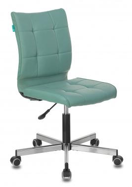 Офисное кресло Бюрократ CH-330M серо-голубой Lincoln 212 искусственная кожа крестовина металл хром
