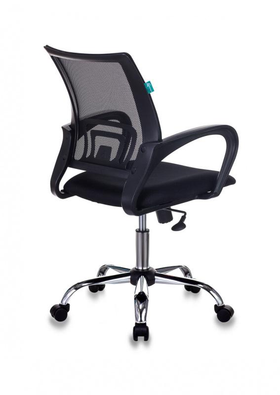 Кресло офисное Бюрократ CH-695NSL черный TW-01 сиденье черный TW-11 крестовина металл хром