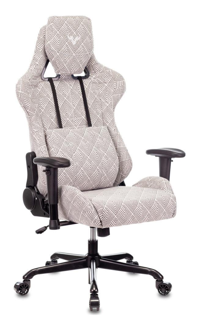 Кресло игровое Бюрократ VIKING LOFT серый Loft ромбик с подголов. крестовина металл